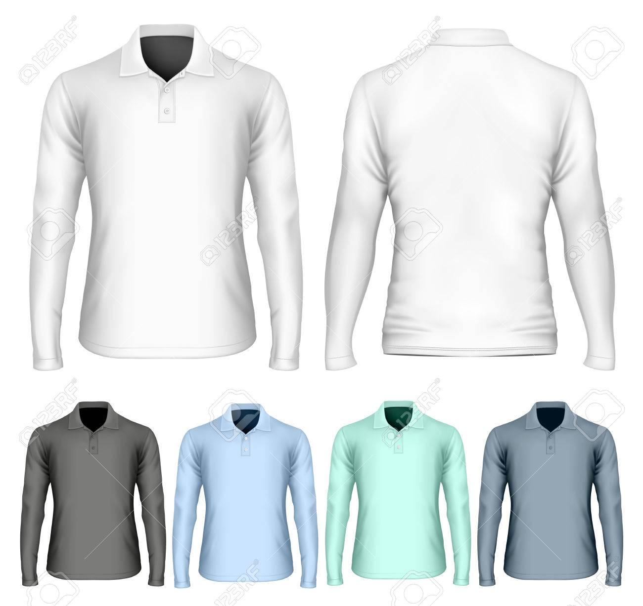 Mens White Polo Shirt Long Sleeve