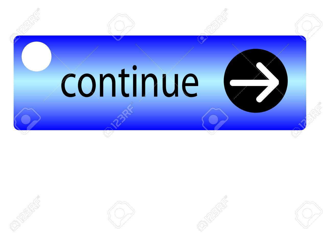 Blue Arrow Button