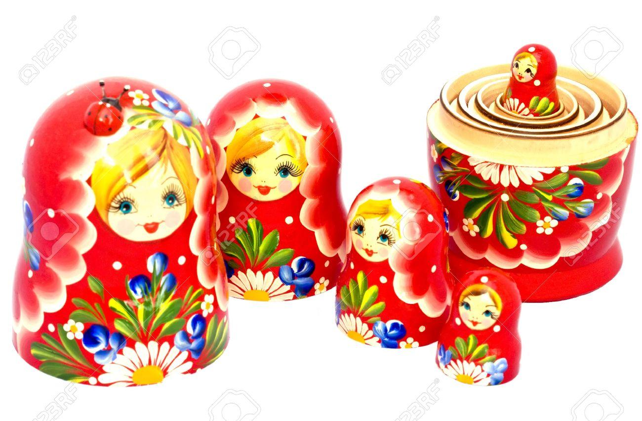 Russian traditional Matryoshka nested dolls. Stock Photo - 11013099