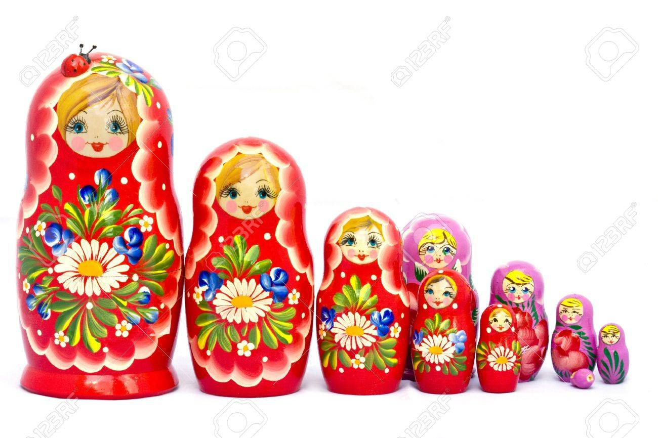 a big family of russian traditional wooden nested dolls babushka a big family of russian traditional wooden nested dolls babushka or matrioshka