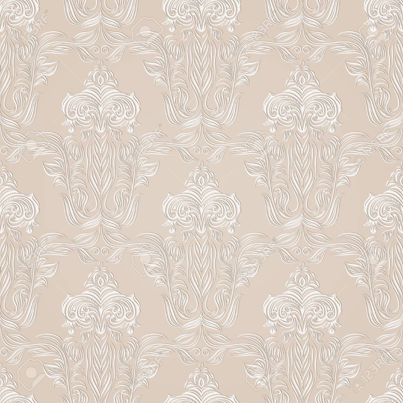 シームレスなレトロな壁紙のイラスト素材 ベクタ Image 48363253