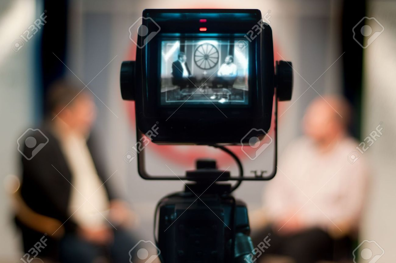Video Camera Viewfinder - Recording Show In TV Studio - Focus ...