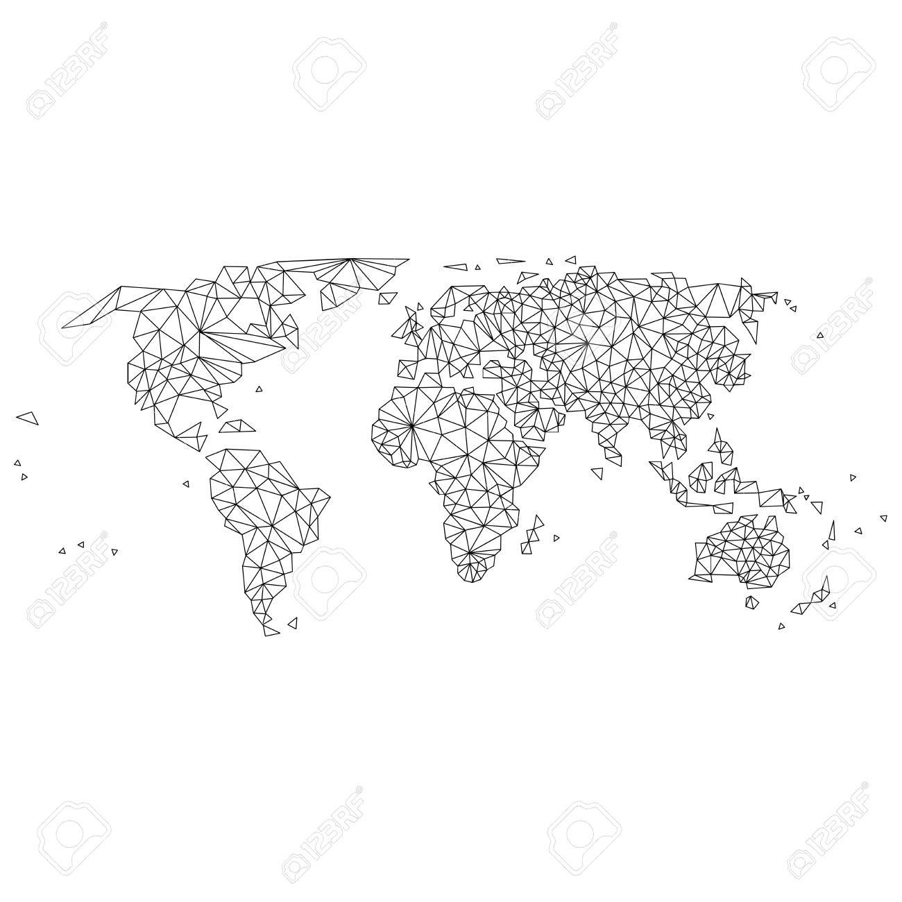 Abstract world map lines royalty free cliparts vectors and stock abstract world map lines stock vector 73885621 gumiabroncs Choice Image