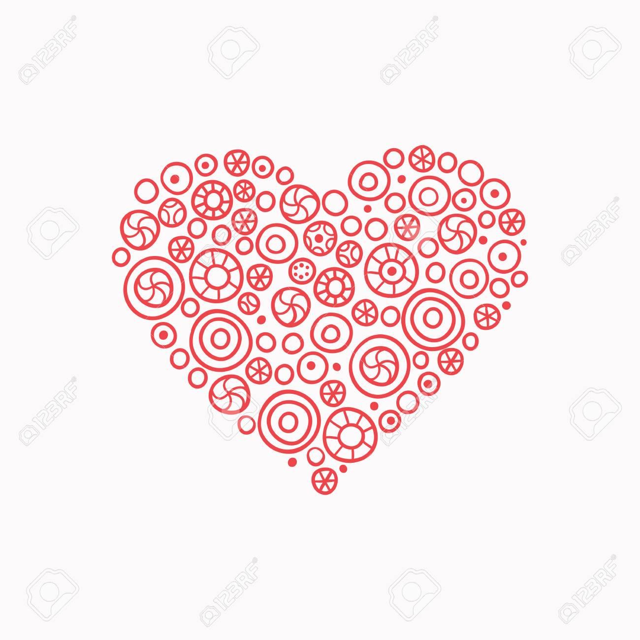 Hand Drawn Cute Fun Pink Heart Valentine Day Heart Royalty Free