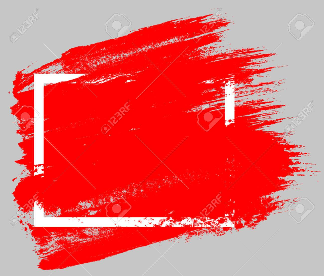 red brush strokes with rough edges abstract background dry