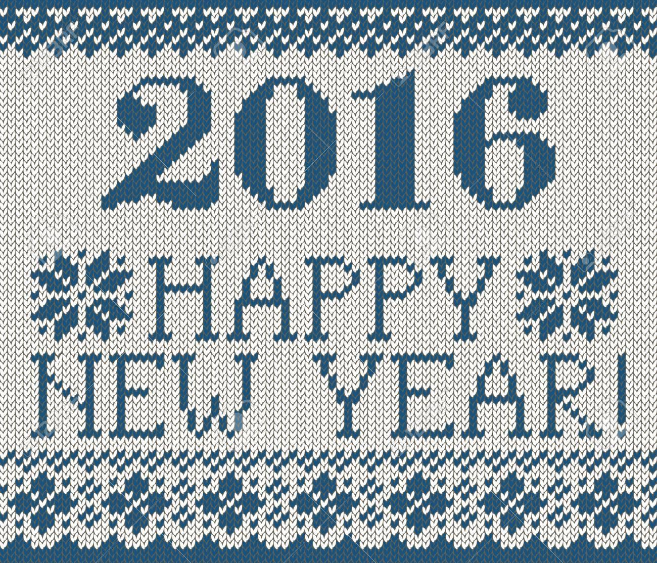 Patrón Azul Transparente De La Feliz Año Nuevo. Estilo Escandinavo ...