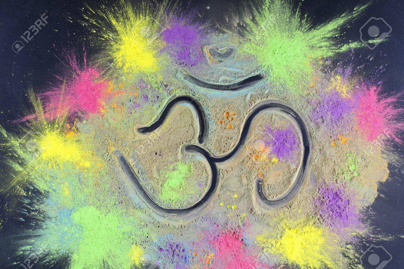 Celebrate Festival Holi. Indian Holi Festival Colours. Letter ...