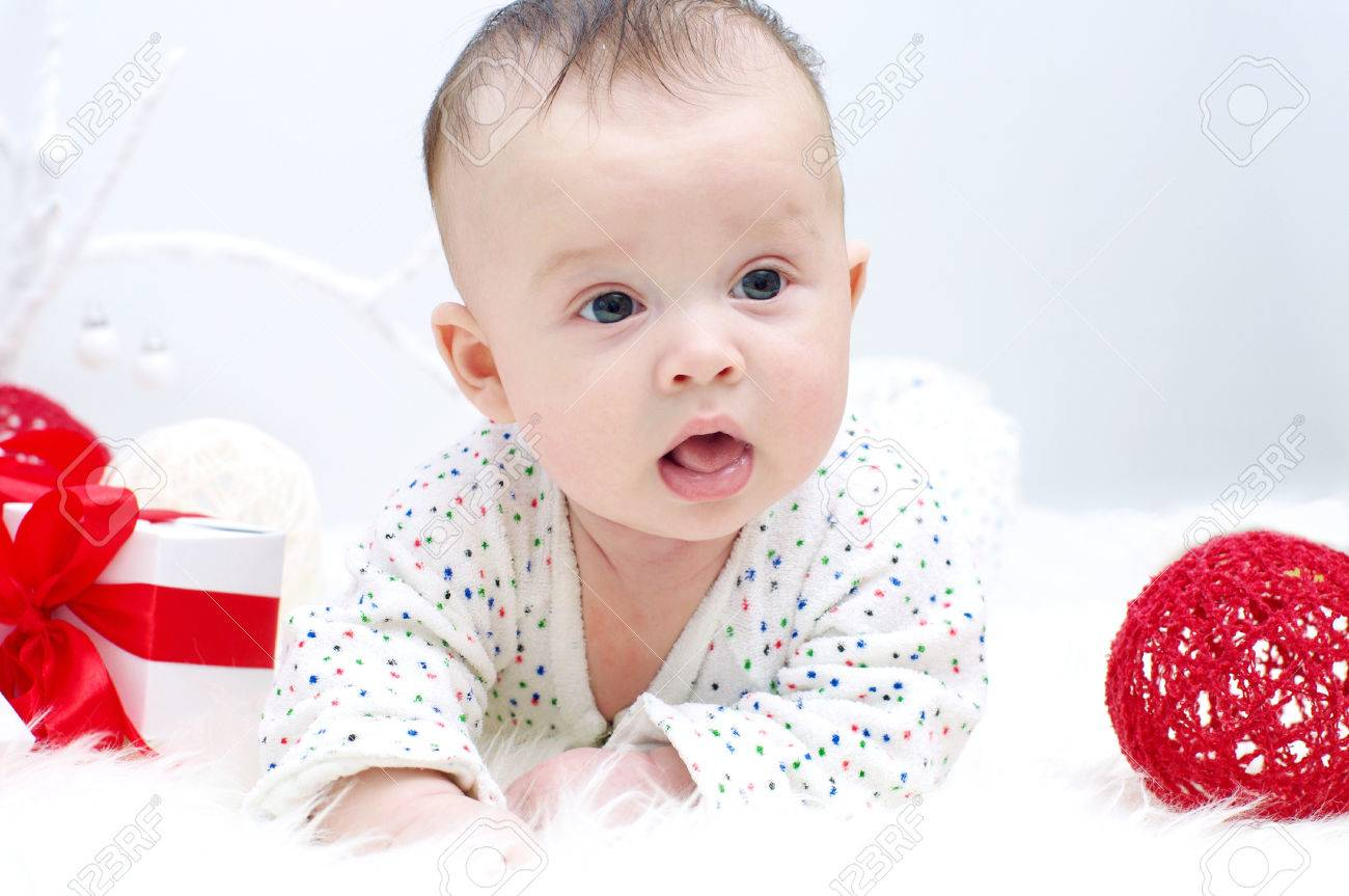 Nice baby boy age of 3 months stock photo 23834297