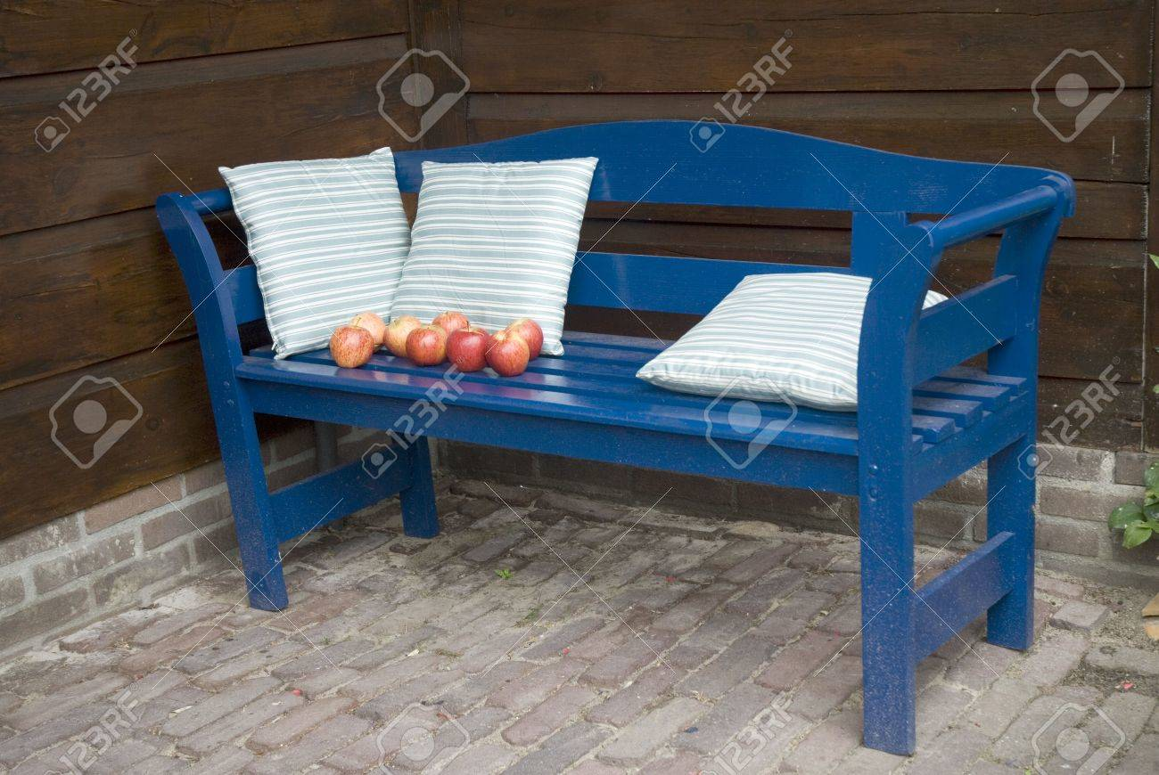 Tremendous Blue Bench Outdoor In The Garden Cjindustries Chair Design For Home Cjindustriesco