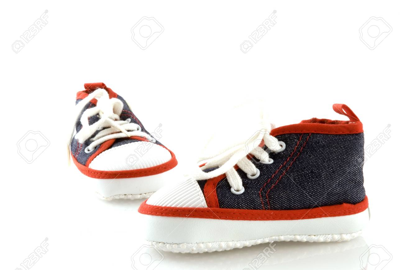 sporting shoes for a little Stock Photo - 2456689