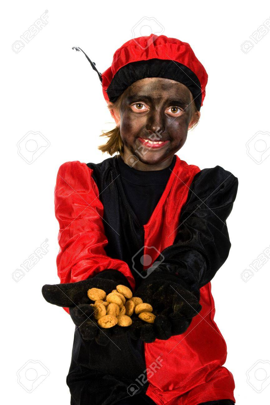 Black Piet with Sinterklaas in Holland Stock Photo - 3823830