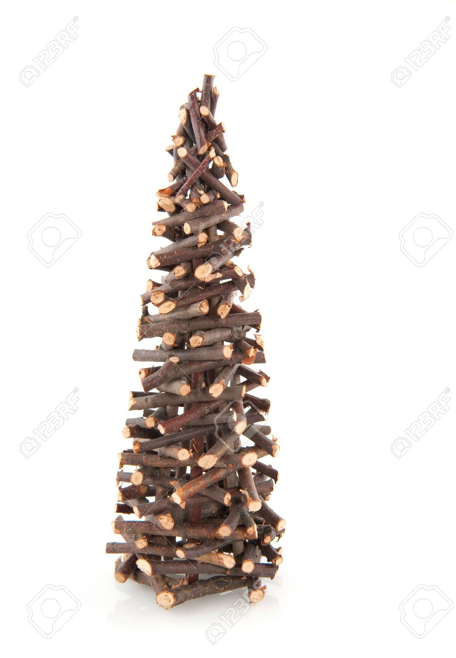 Simple Christmas Tree From Little Wooden Twigs Stock Photo Picture And Royalty Free Image Image 5345953