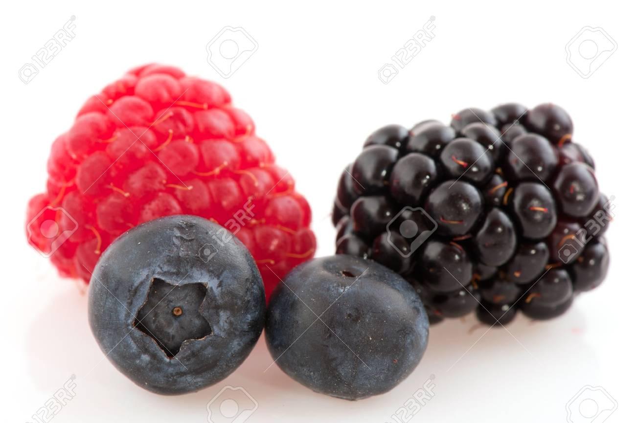 Sweet ripe summer fruit isolated over white Stock Photo - 7541456