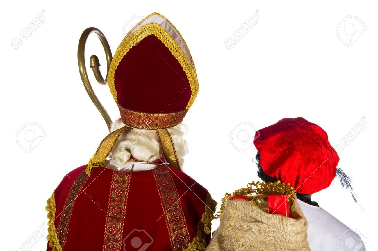 Sinterklaas and Black Piet in the studio Stock Photo - 7908204