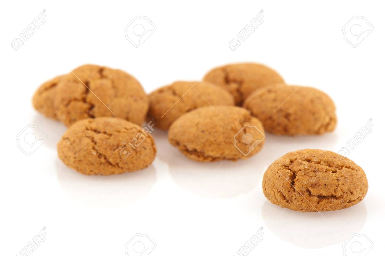 Several Sinterklaas ginger nuts isolated over white Stock Photo - 7973479
