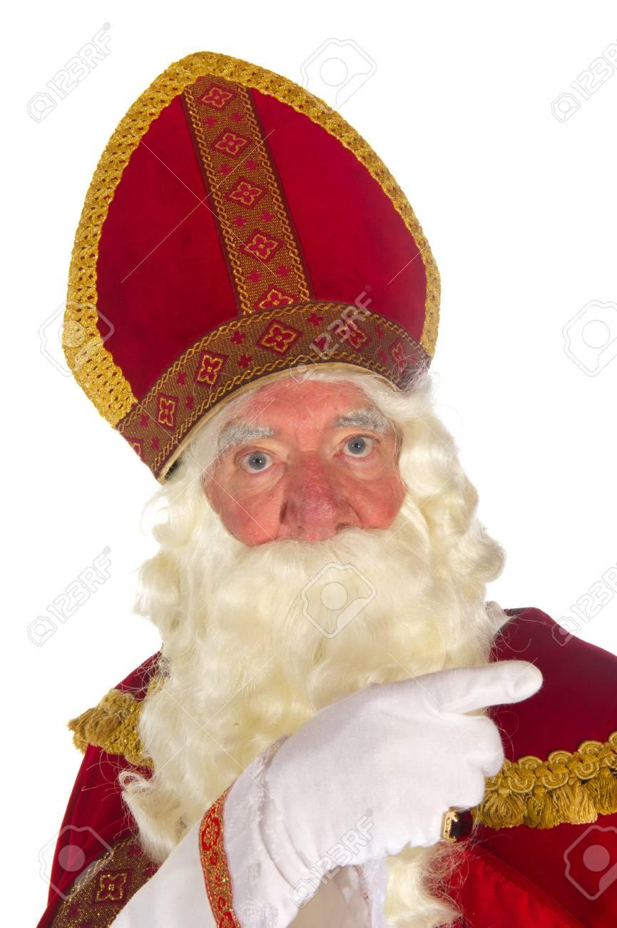 Dutch traditional Sinterklaas portrait in the studio Stock Photo - 8056493
