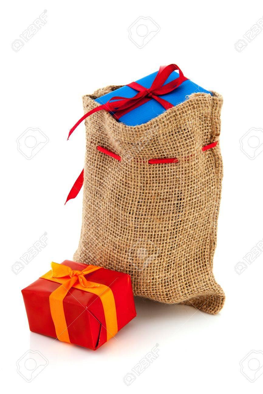 Bag Dutch Sinterklaas presents Stock Photo - 16097114