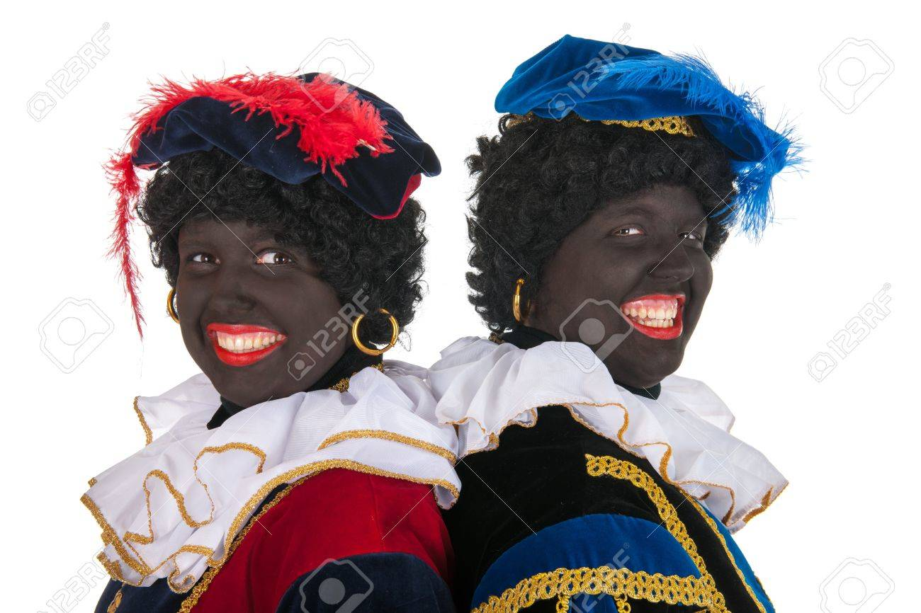 Dutch black petes for typical Sinterklaas holidays in portrait Stock Photo - 16303524