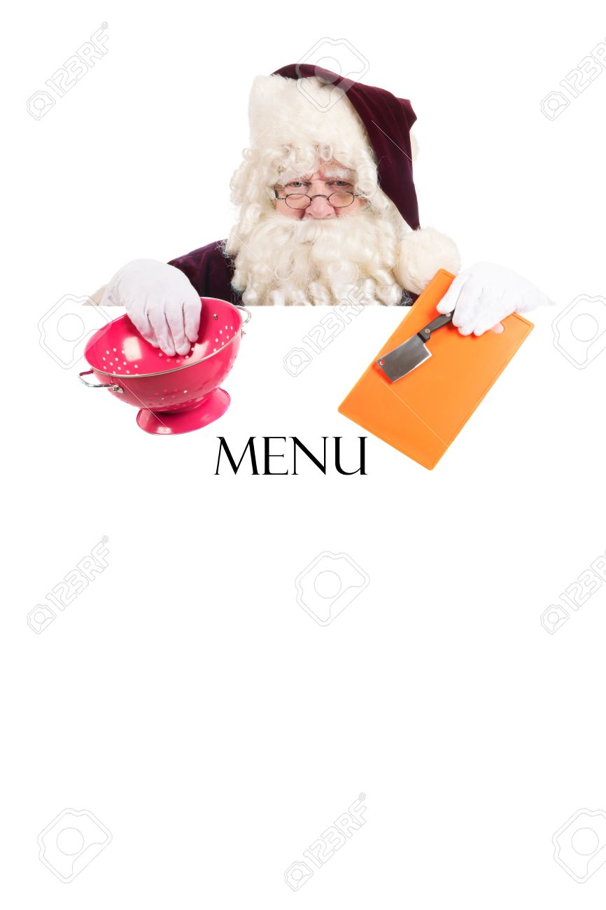 Template To Make Your Own Christmas Menu Stock Photo, Picture And ...