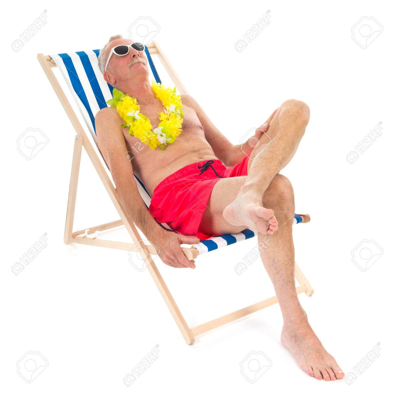Retired Man On Vacation Sitting In Beach Chair Drinking Beer Stock Photo Picture And Royalty Free Image Image 35008419