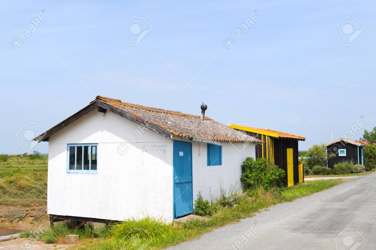 French Wooden Oyster Hut In The France Charente Maritime Stock Photo    82758124
