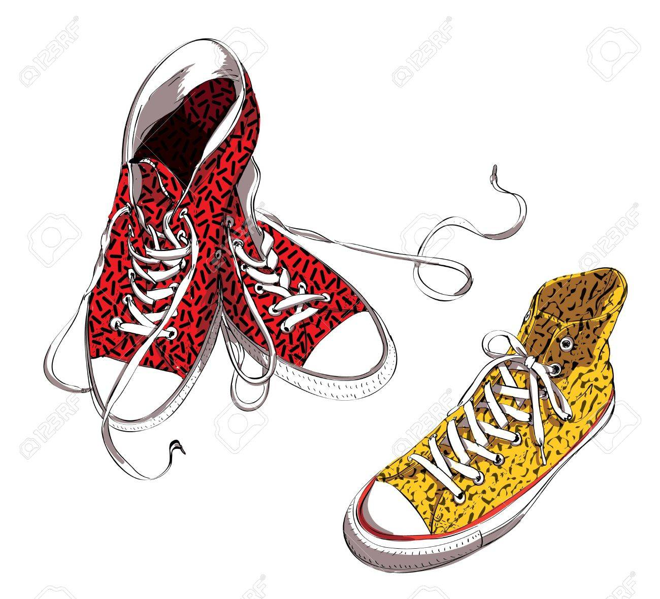 Sneakers with Pattern Stock Vector - 17141752
