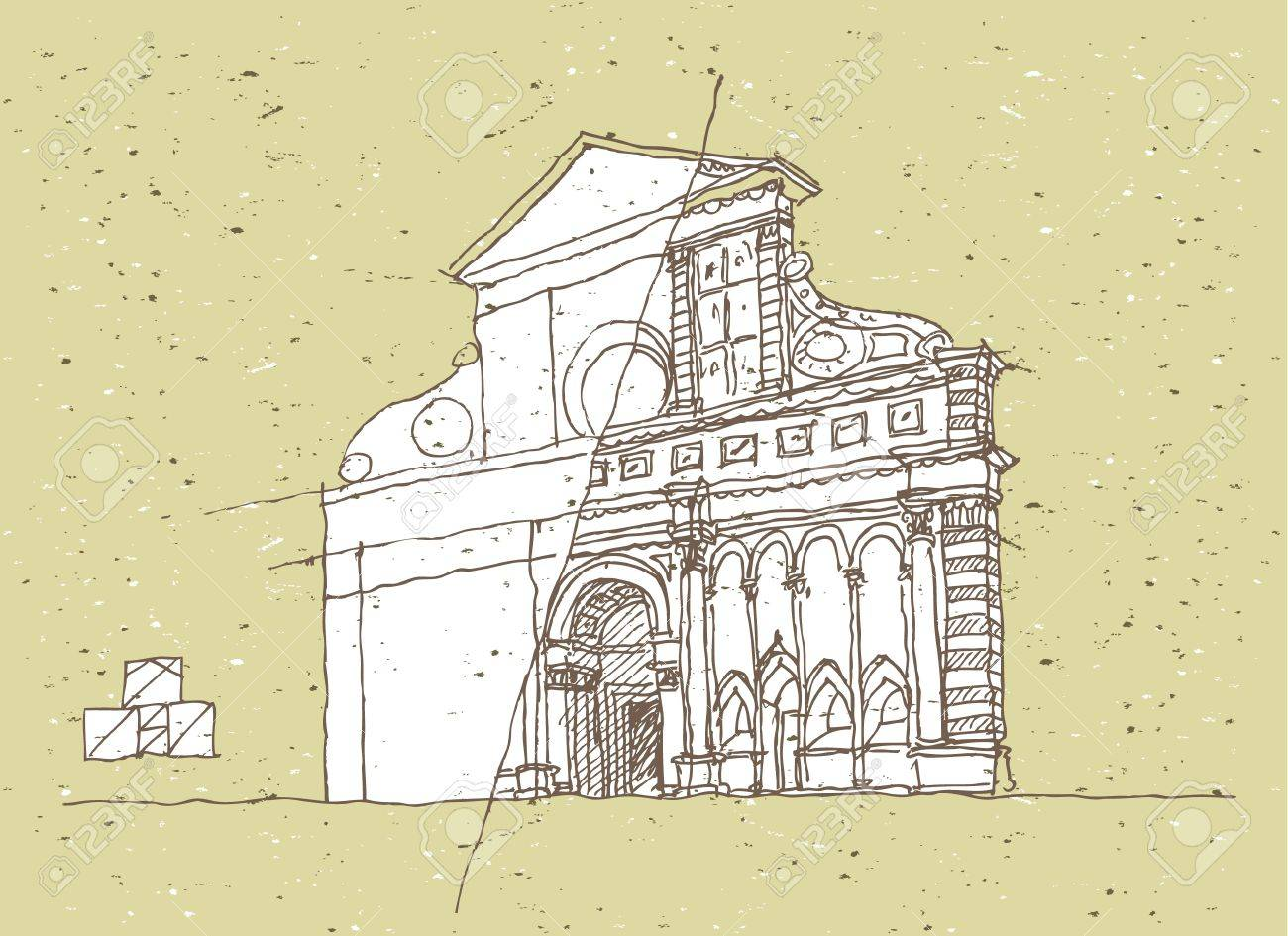 Sketching Historical Architecture in Italy Stock Vector - 17142266