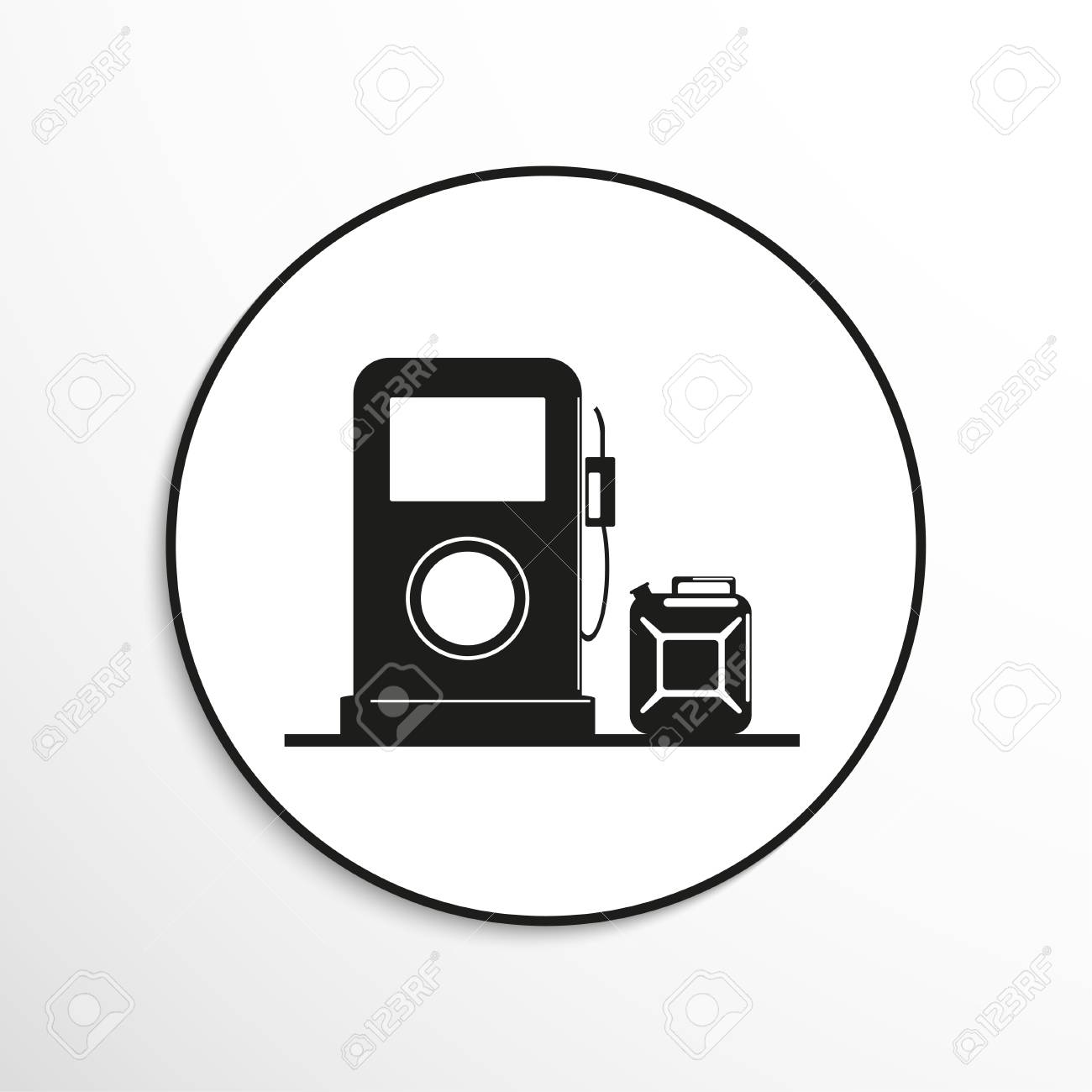 Gas Station Symbol Vector Icon Royalty Free Cliparts Vectors