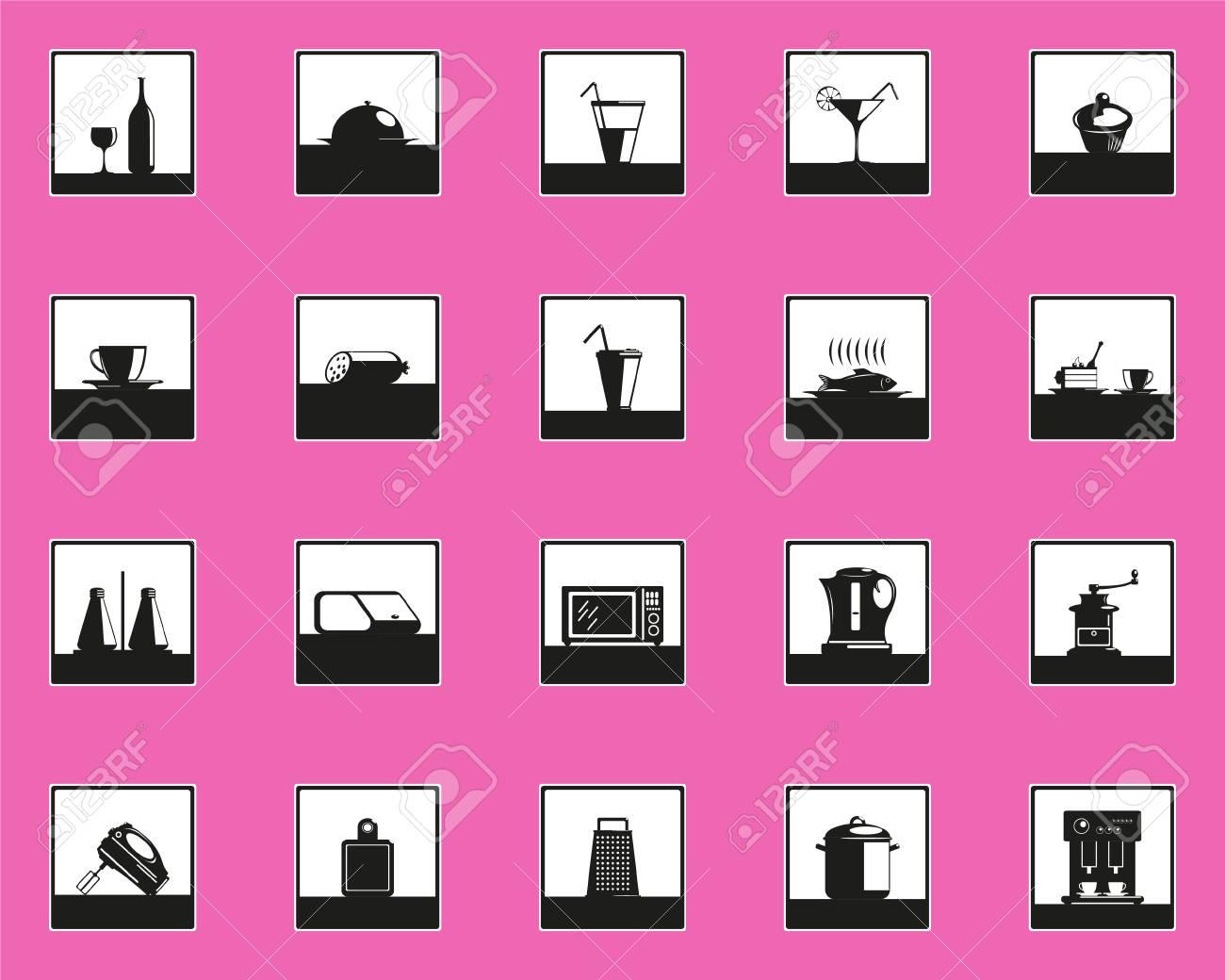 Set Von Vektor Icons Auf Dem Thema Der Kuchenzubehor Lizenzfrei Nutzbare Vektorgrafiken Clip Arts Illustrationen Image 98551748