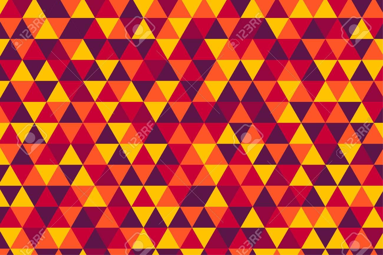 Modèle De Triangle Rétro Vector, Cinq Couleurs Chaudes Clip Art ...