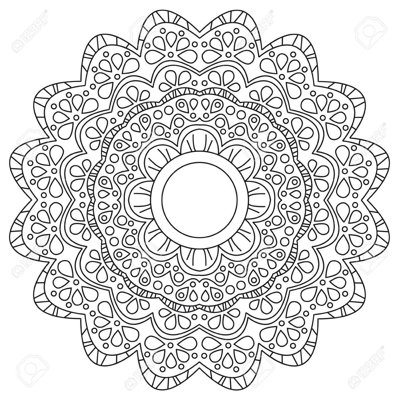 Vector illustration of a black and white floral background - 88185327