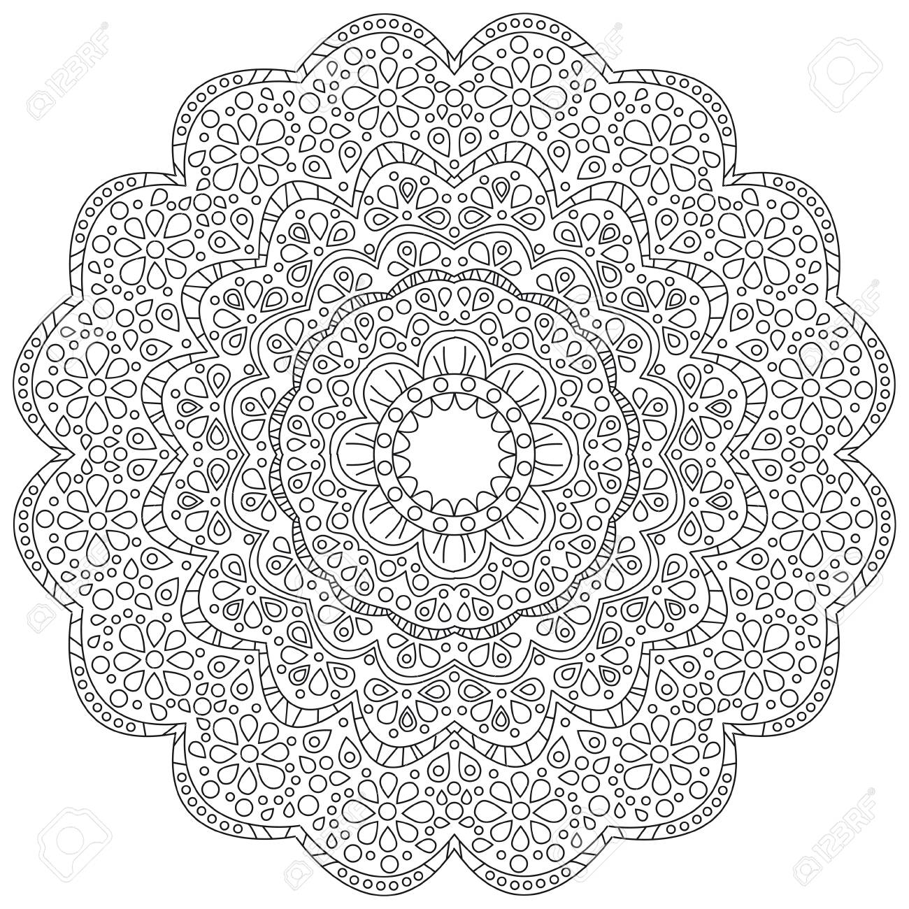 Vector illustration of a black and white floral background - 88185328