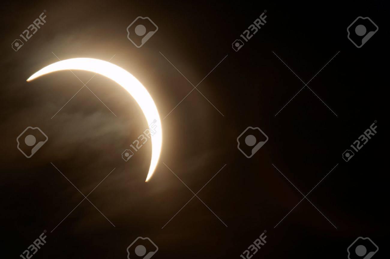 Partial solar eclipse, Novosibirsk, Russia, 29 march 2006 Stock Photo - 361850