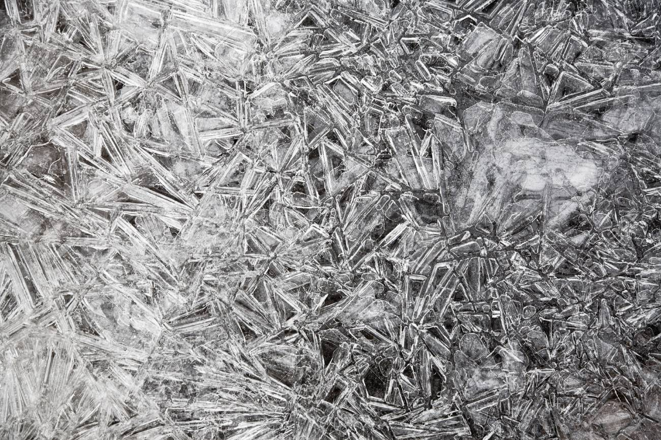Ice texture. Natural ice in the Belokurikha river, november 2006 Stock Photo - 773787