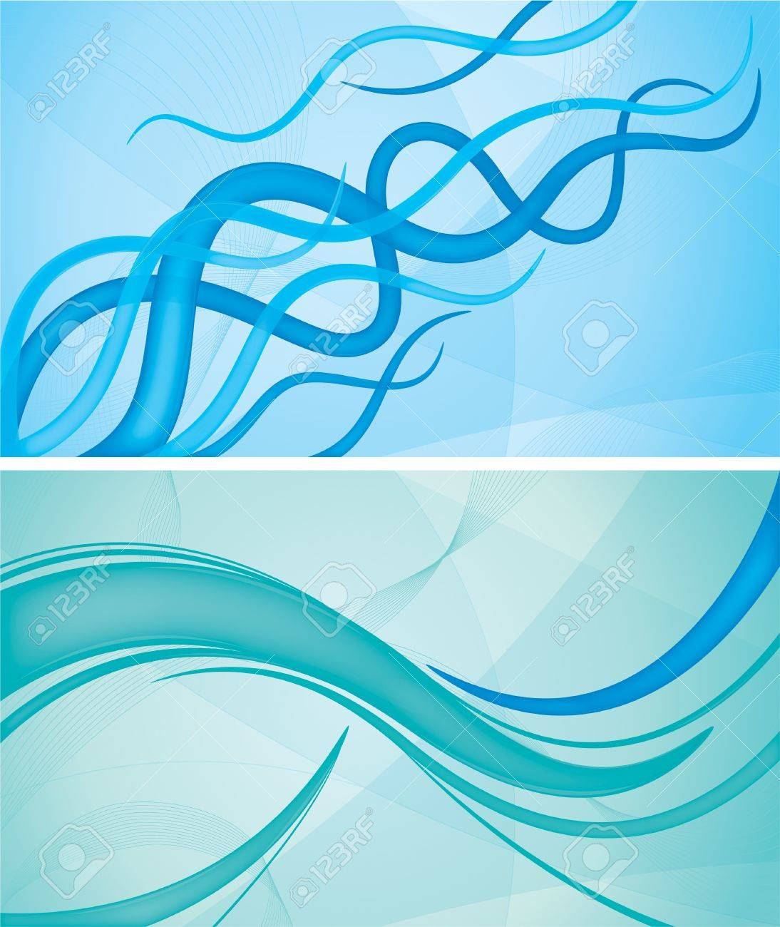 colorful wave backgrounds collection  Each background separately on different layers Stock Vector - 14474024