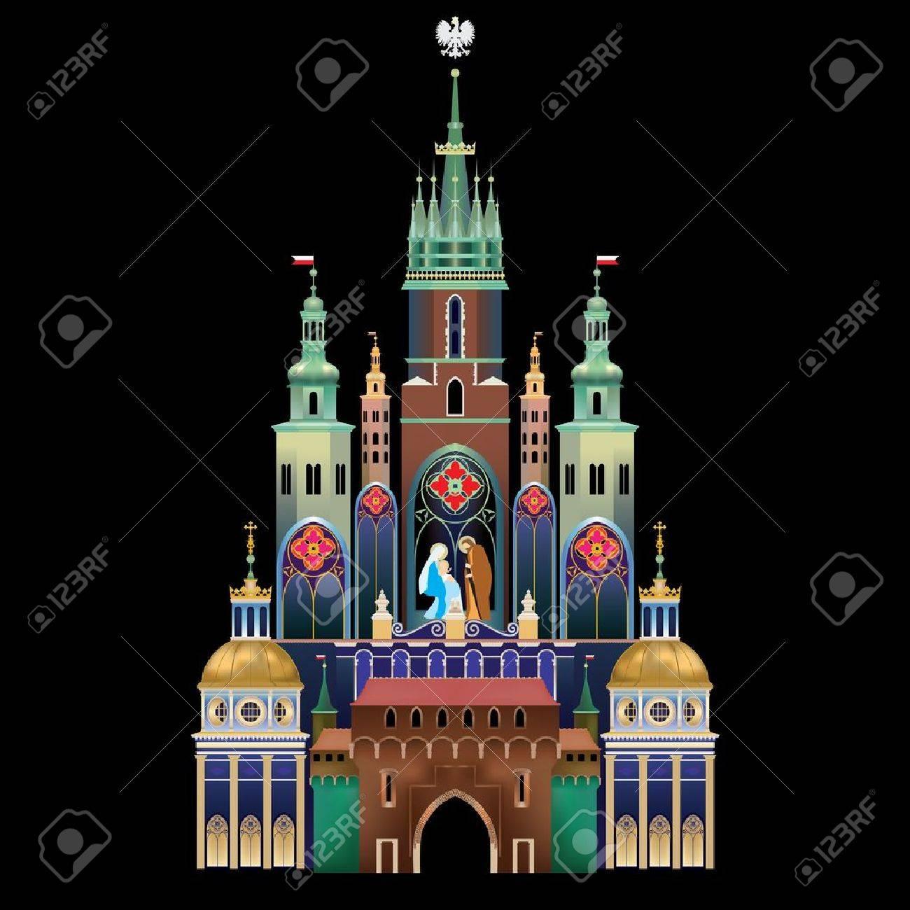 Krakow Nativity Scene - Christmas tradition - historical landmark of Krakow, Poland - Szopka Krakowska Stock Vector - 18085668