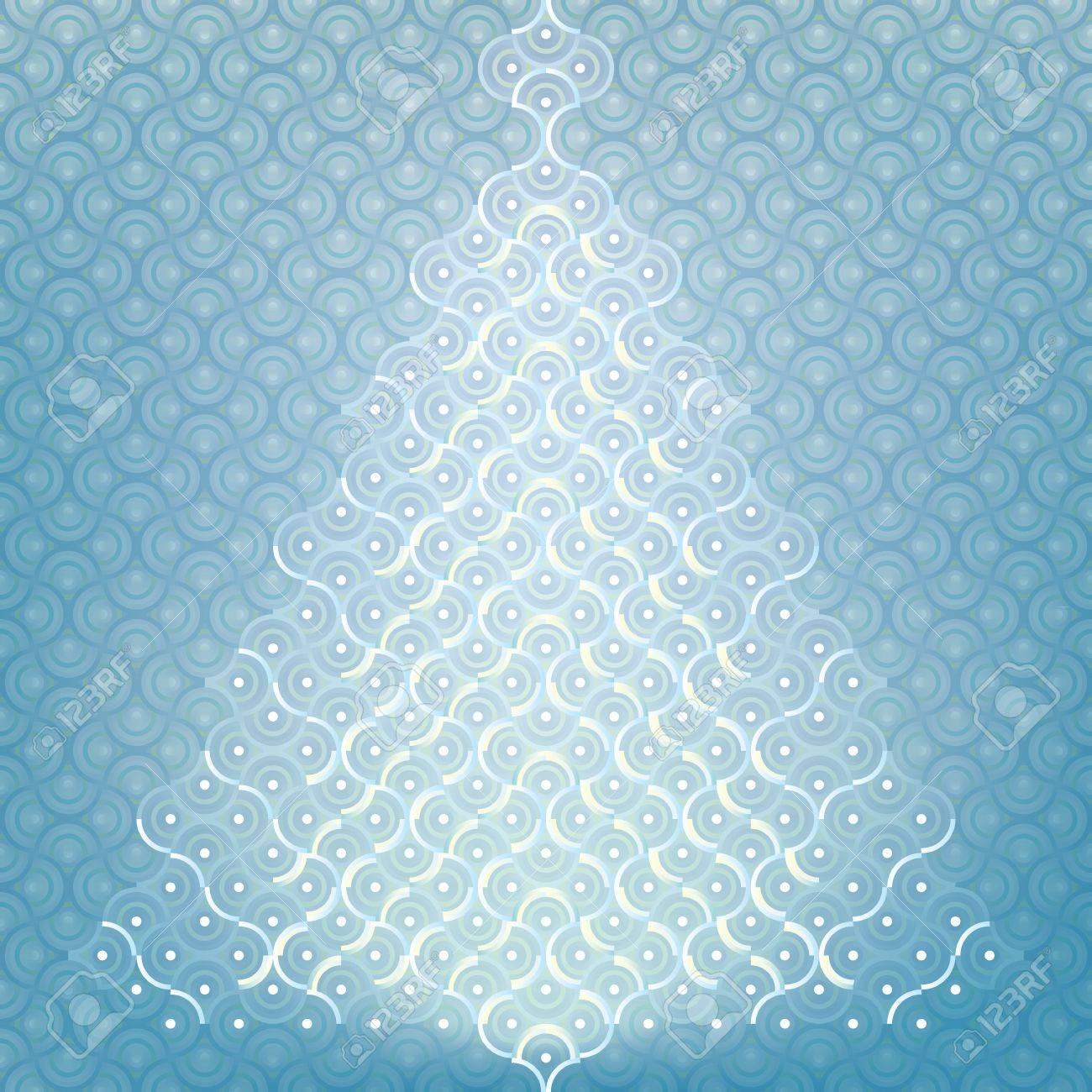 Seamless Christmas tree background organic pattern wrap Stock Vector - 18085614