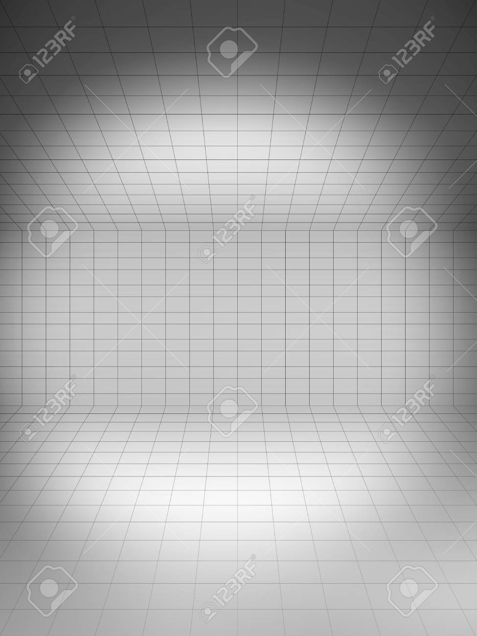 empty gray surface a 3d illustration of blank template layout