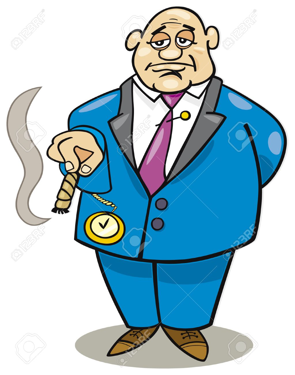 cartoon rich man Stock Vector - 5782329