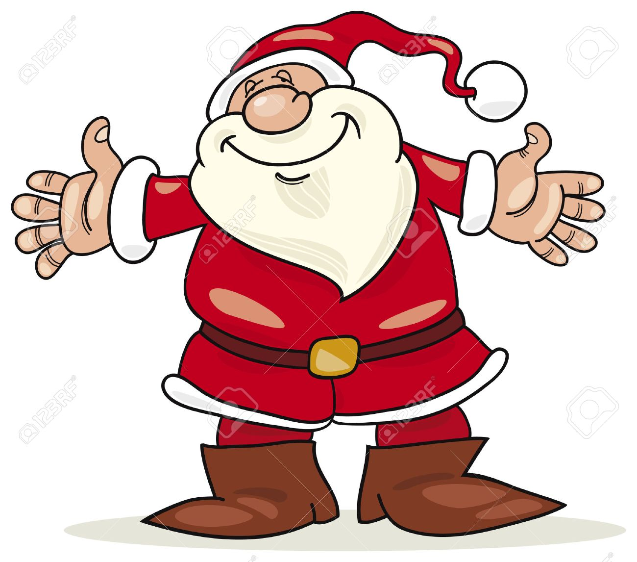 cheerful santa claus Stock Vector - 5815775