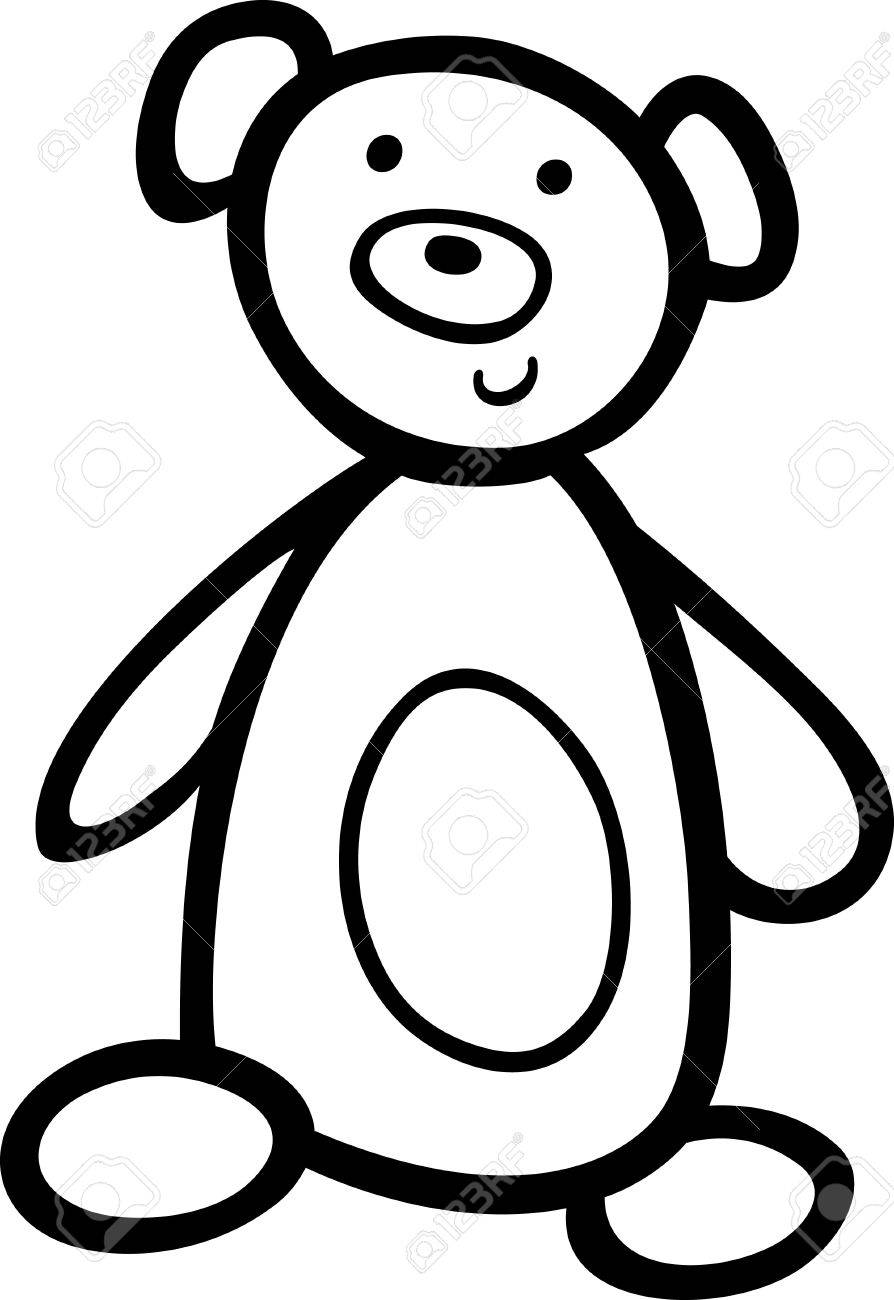 cute teddy bear toy for coloring book Stock Vector - 9589518