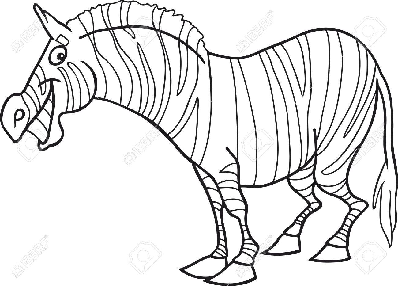funny zebra for coloring book