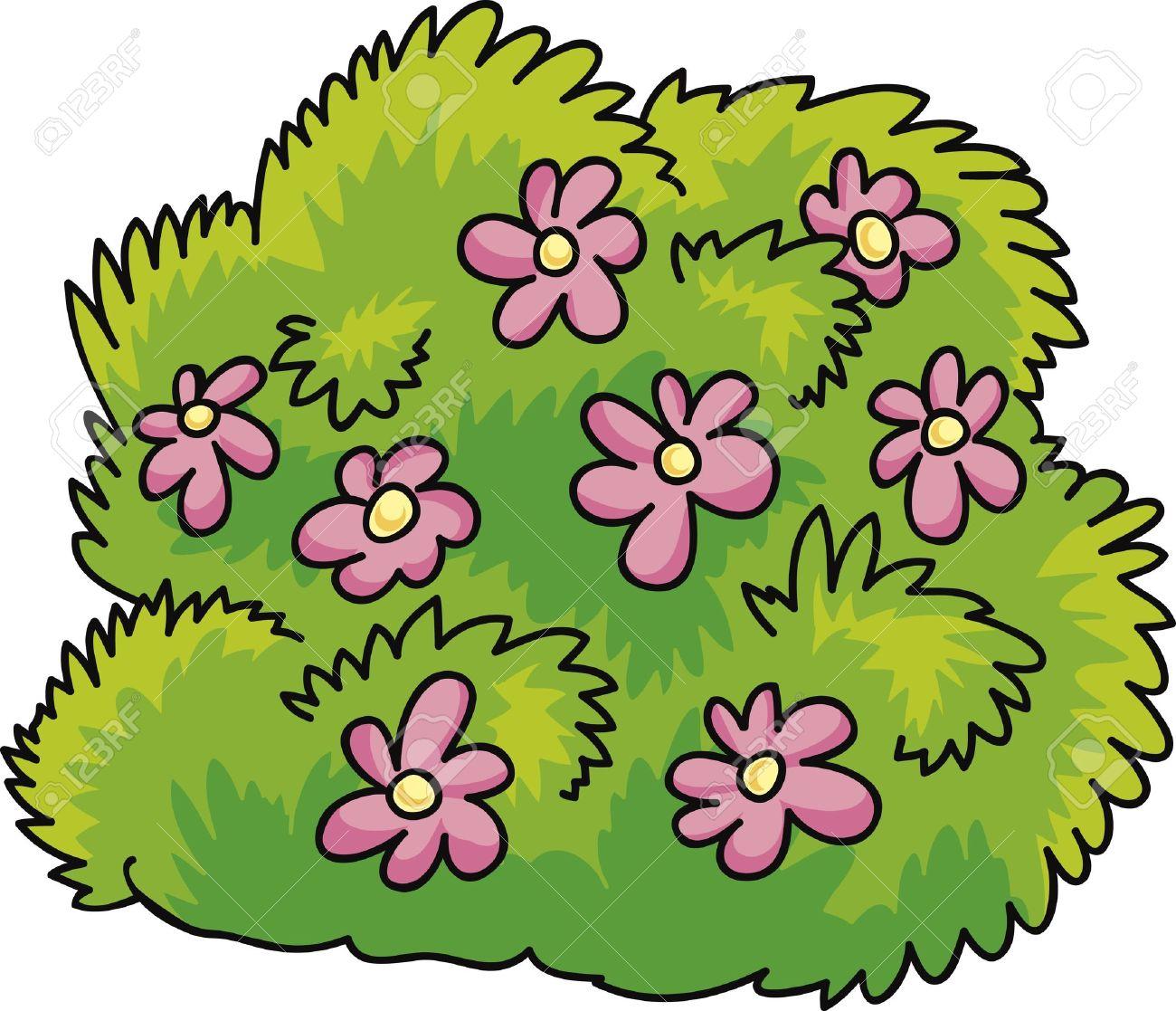 Cartoon illustration of green bush with pink flowers royalty free cartoon illustration of green bush with pink flowers stock vector 10746490 mightylinksfo