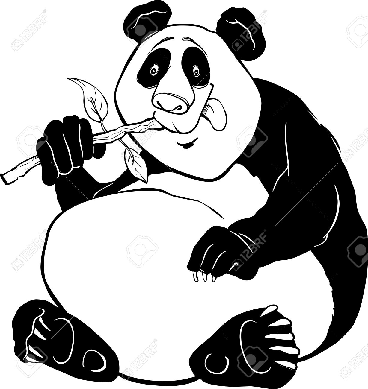 funny giant panda bear coloring page royalty free cliparts