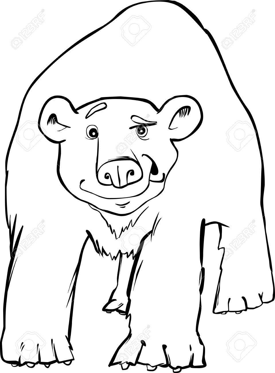 Eisbär Ausmalbilder Lizenzfrei Nutzbare Vektorgrafiken Clip Arts