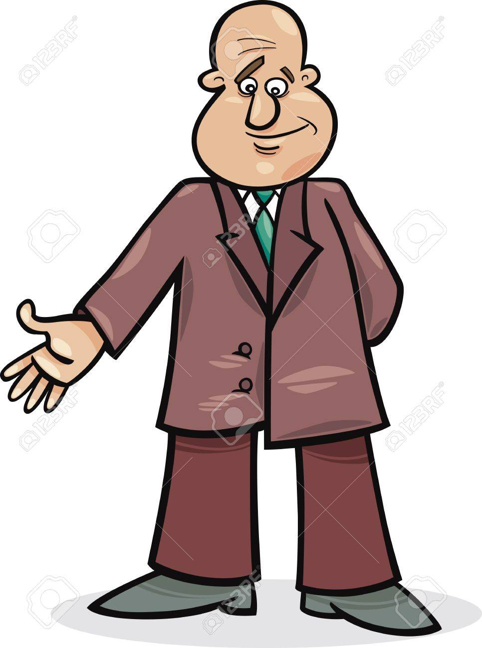 cartoon illustration of funny man in suit Stock Vector - 11933976