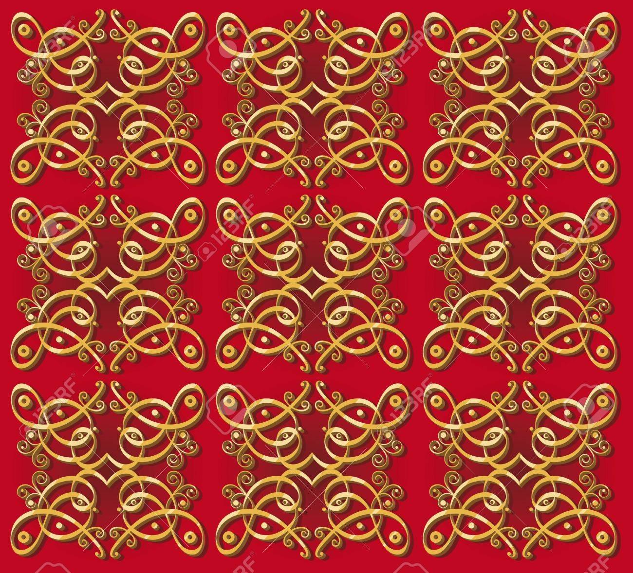 Seamless Design Vintage Fond Oriental De Decoration Pour Papier