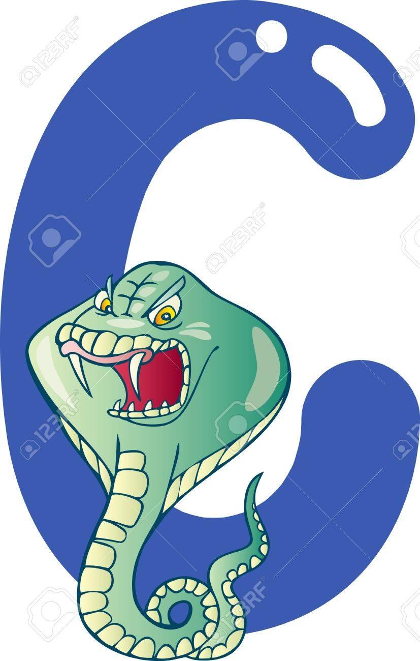 cartoon illustration of C letter for cobra Stock Vector - 13070792