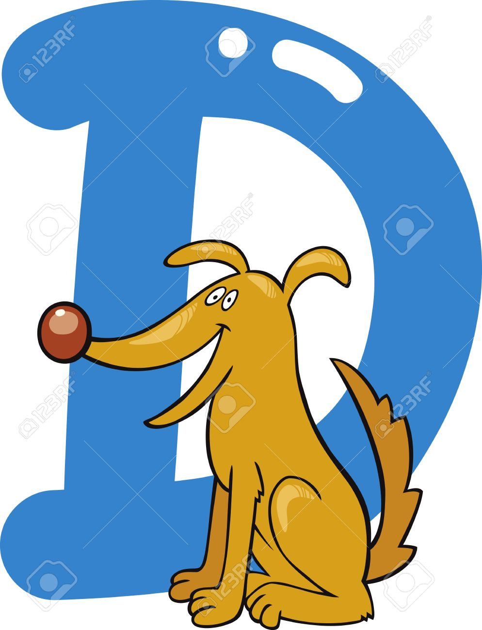 Cartoon illustration of d letter for dog royalty free cliparts cartoon illustration of d letter for dog altavistaventures Image collections