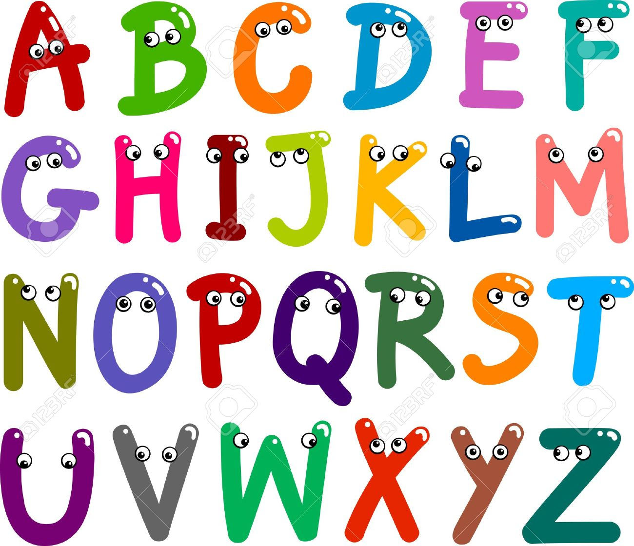 Illustration Of Funny Capital Letters Alphabet For Education ...